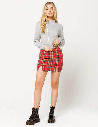 Full Tilt Plaid Mini Skirt