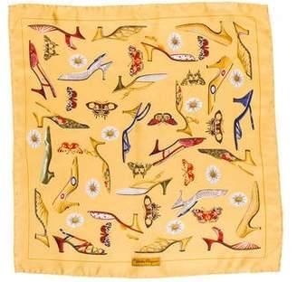 Salvatore Ferragamo Silk Printed Pocket Square