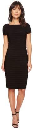 Adrianna Papell Pintuck Matte Jersey Sheath Women's Dress