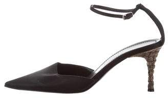 Casadei Pointed-Toe Ankle Strap Pumps