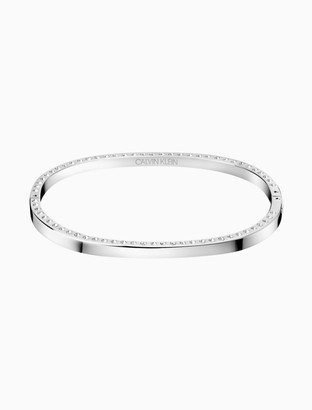 Calvin Klein hook silver bangle