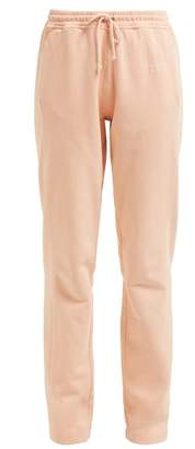 Acne Studios Logo Embroidered Cotton Track Pants - Womens - Pink