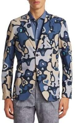 Saks Fifth Avenue x Traiano Camouflage Explorer Blazer