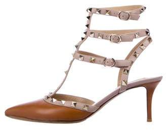 Valentino Leather Rockstud Sandals gold Leather Rockstud Sandals