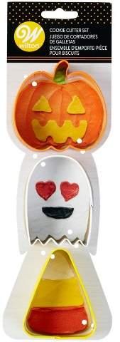 Wilton 3pk Halloween Cookie Cutter Set Orange/Yellow