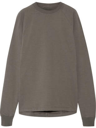 Rick Owens - Cotton-jersey Sweatshirt - Gray $440 thestylecure.com
