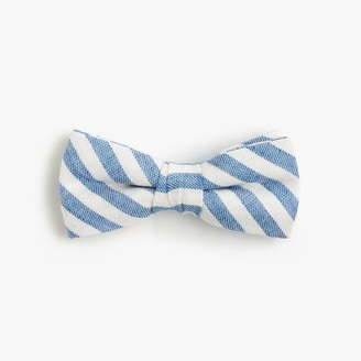 Boys' linen-cotton bow tie in faded stripe $22.50 thestylecure.com