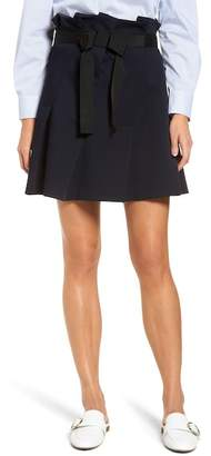 Halogen Paperbag Waist Ribbon Tie Mini Skirt (Regular & Petite)
