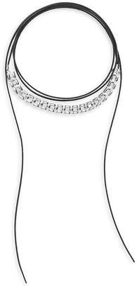 Noir Women's Leather Choker Necklace