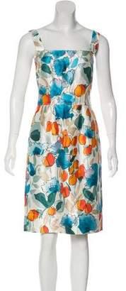 Dolce & Gabbana Silk Printed Knee-Length Dress
