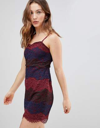 Deby Debo Deborah Multi Lace Slip Dress