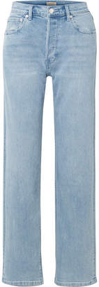 Burberry High-rise Straight-leg Jeans - Indigo