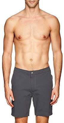 Onia Men's Calder Striped Seersucker Swim Trunks - Dark Gray