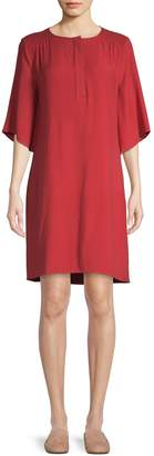 Halston H Henley T-Shirt Dress