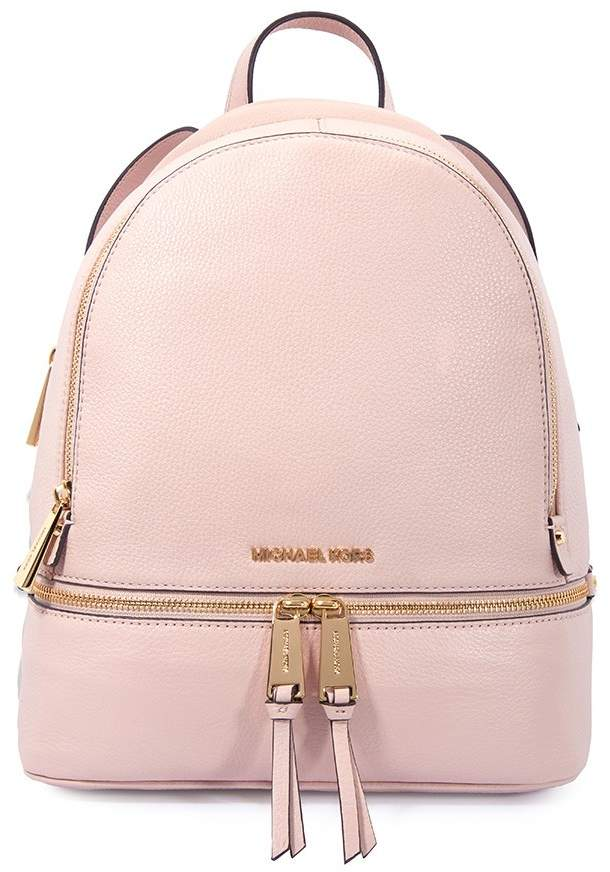 Michael Kors Rhea Medium Leather Backpack - Soft Pink - ONE COLOR - STYLE