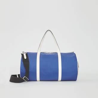 Burberry Large Colour Block Vintage Check Barrel Bag