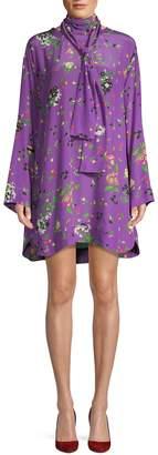 Zadig & Voltaire Silk Bell-Sleeve Shift Dress