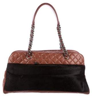 Chanel Ponyhair & Leather Bowler Bag