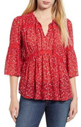 Lucky Brand Lace Detail Top