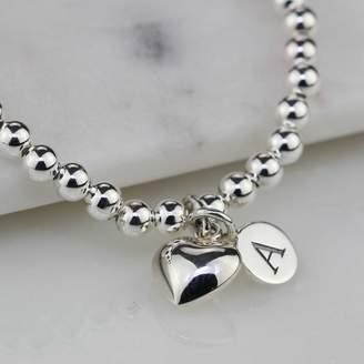 Nest Personalised Children's Silver Heart Bracelet