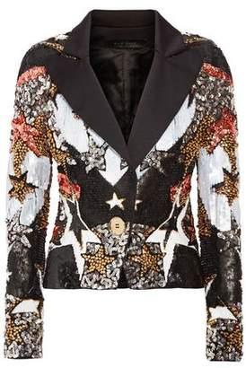 Elie Saab Bead And Sequin-Embellished Satin Blazer