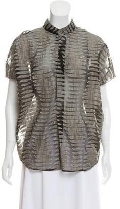 Zero Maria Cornejo Linen Short Sleeve Top