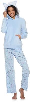 So Juniors' SO Sherpa Llama Hoodie & Pants Pajama Set