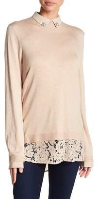 Love Token Amanda Faux Button-Up Sweater