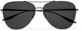 Barton Perreira Chevalier Aviator-Style Titanium Sunglasses - Men - Black