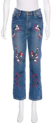 Bliss and Mischief Mid-Rise Straight-Leg Jeans w/ Tags