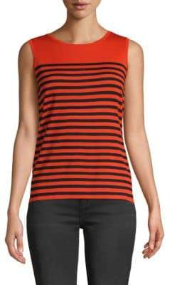 Akris Punto Striped Sleeveless Wool Top