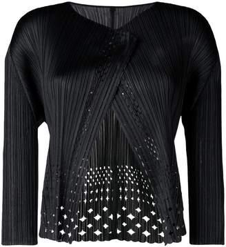 Pleats Please Issey Miyake Dots Lace cardigan