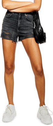 Topshop Ripped Mom Denim Shorts