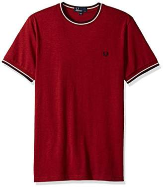 Fred Perry Twin Tipped Red 100% Cotton T-Shirt