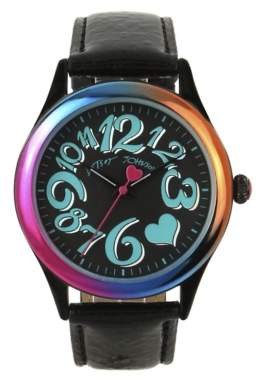 Betsey Johnson Rainbow Case Women's Watch