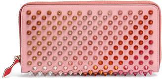 Christian Louboutin Panettone pink rainbow spikes wallet