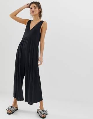0299eabbcca Asos Design DESIGN curved smock jumpsuit