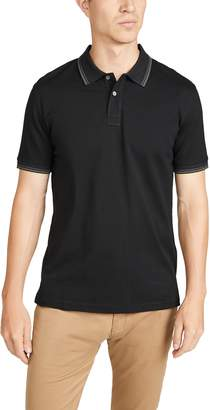 Paul Smith Regular Fit Polo Shirt with Stripe Collar