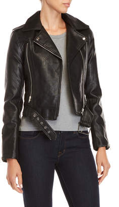 Romeo & Juliet Couture Romeo + Juliet Couture Asymmetrical Faux Leather Cropped Jacket
