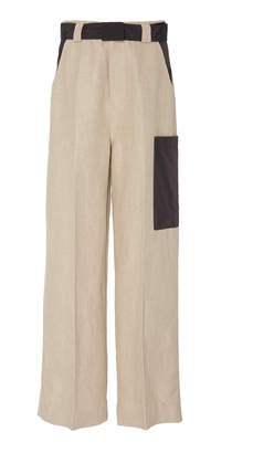 Ganni Linen High Waisted Pant Size: 38