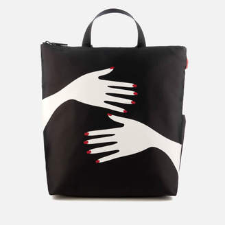 Lulu Guinness Women's Romy Hug Print Backpack - Black