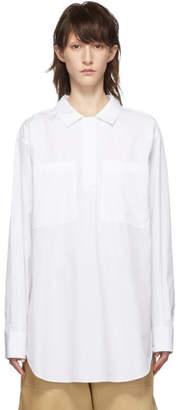 Jil Sander Navy White Long Pocket Blouse