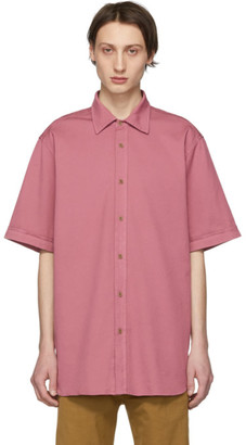 Dries Van Noten Pink Oversized Compton Shirt