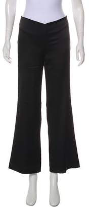 Nicole Miller Mid-Rise Flared Pants