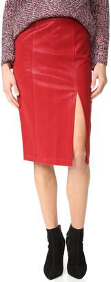 J.o.a. Faux Leather Skirt