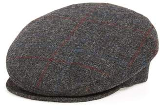 Bailey Lord Windowpane Wool Driving Cap