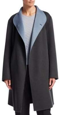 Emporio Armani Wool Wrap Coat
