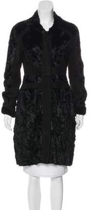 Narciso Rodriguez Paneled Fur Coat