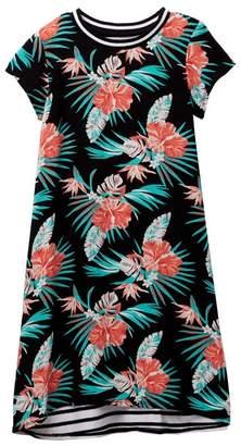 Tucker + Tate Knit to Woven T-Shirt Dress (Toddler & Little Girls)