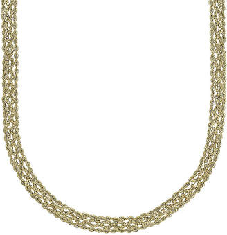 FINE JEWELRY 14K Yellow Gold Braided Popcorn Necklace